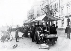 Fiskhamnen i Norrköping 1918.