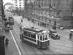 Spårvagnar på Drottninggatan. Foto: Carl Werngren
