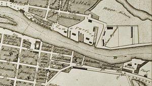 Gamla varvet på 1848 års karta.