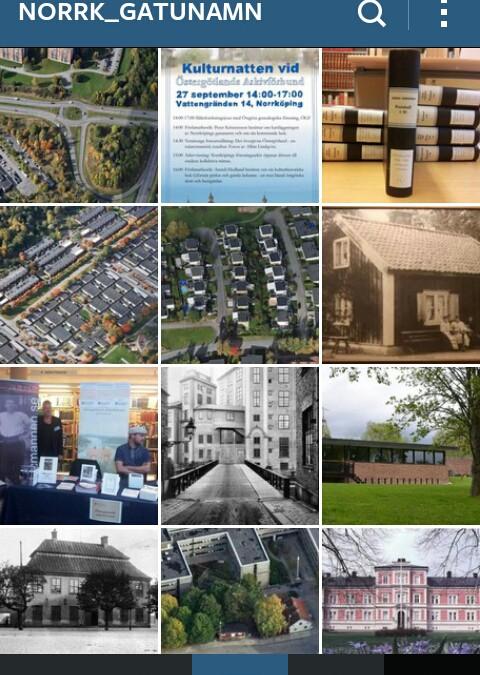 Norrköpings gatunamn på Instagram