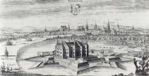 Johannisborg omkring år 1700 i Suecia antiqua et hodierna.