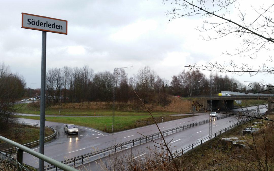 Söderleden vid Trafikplats Vilbergen. Foto: Peter Kristensson/Klingsbergs Förlag