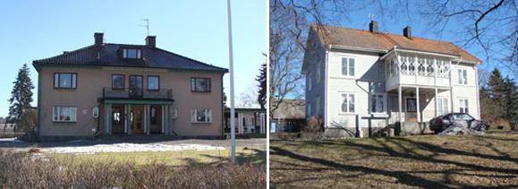Mangårdsbyggnaden och arrendatorsbostaden på Brånnestads gård. Foto: Tingstad hembygdsförening