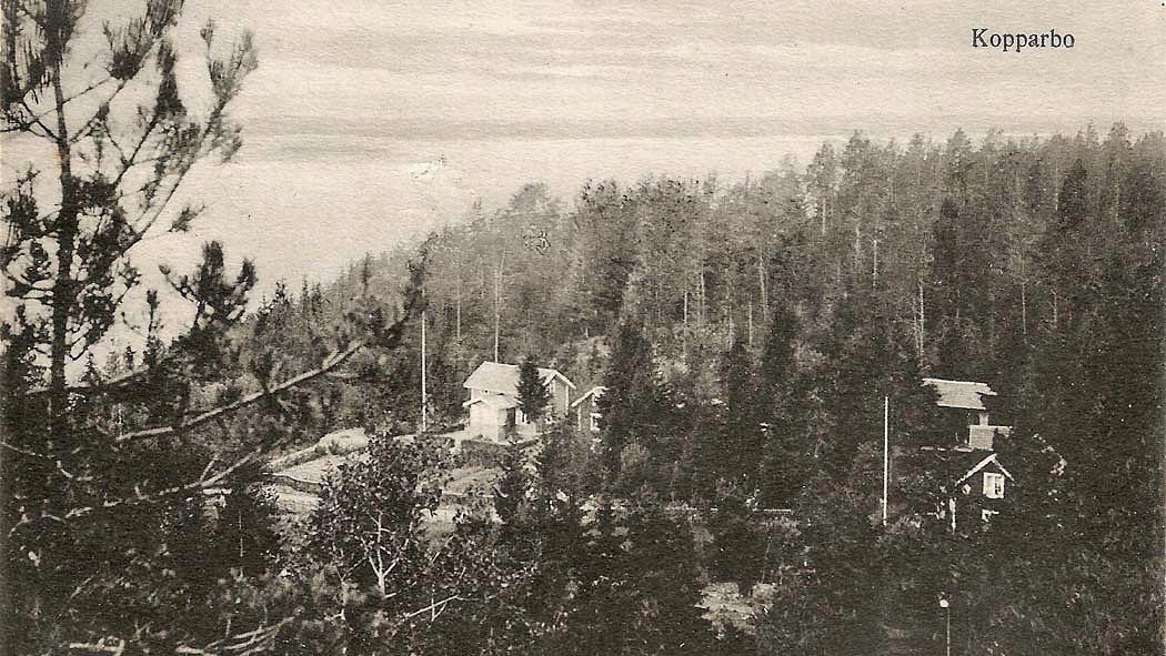 Stensborg och Berga, nuvarande Klumpstugevägen 14 och 12.