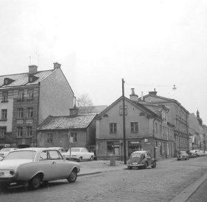 Korsningen Knäppingsborgsgatan - Generalsgatan 1964