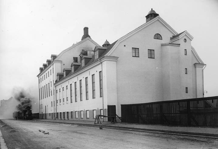 Kooperativa förbundets margarinfabrik på Tegelängsgatan. Okänd fotograf. Ur fotosamlingen Gamle Swartzens minnen, Norrköpings stadsarkiv