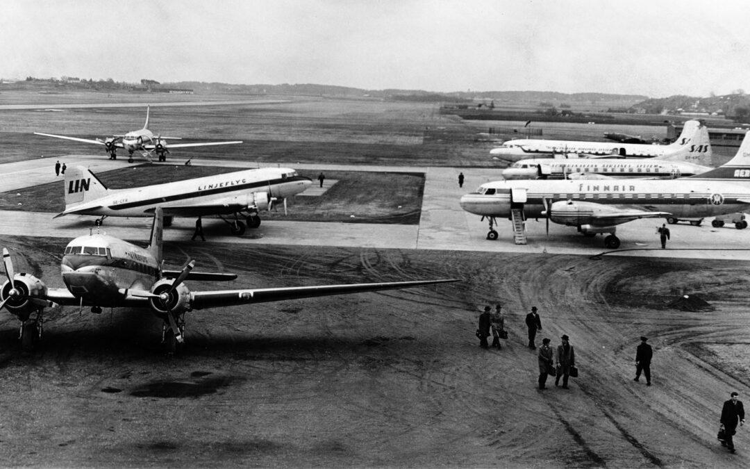Kungsängens flygplats. Foto: Lennart Jansson. Ur Norrköpings stadsmuseums samlingar