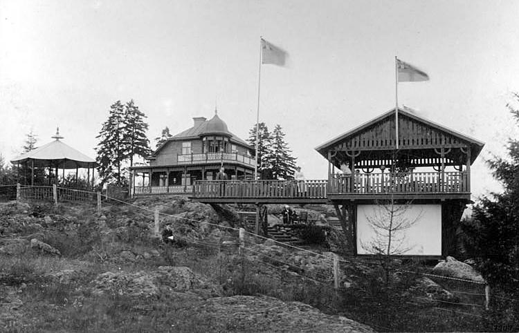 Restaurang Lindöhäll 1902. Foto: Leverin & Co. Ur Norrköpings stadsarkivs samlingar