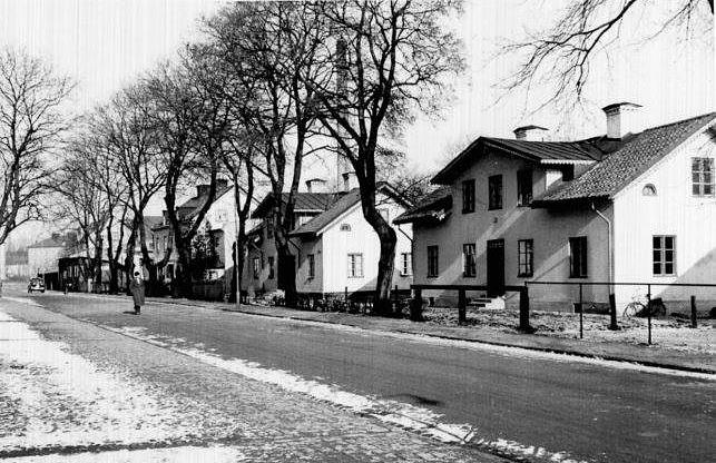 Nelinsgatan längs kvarteret Grönsiskan 1944.