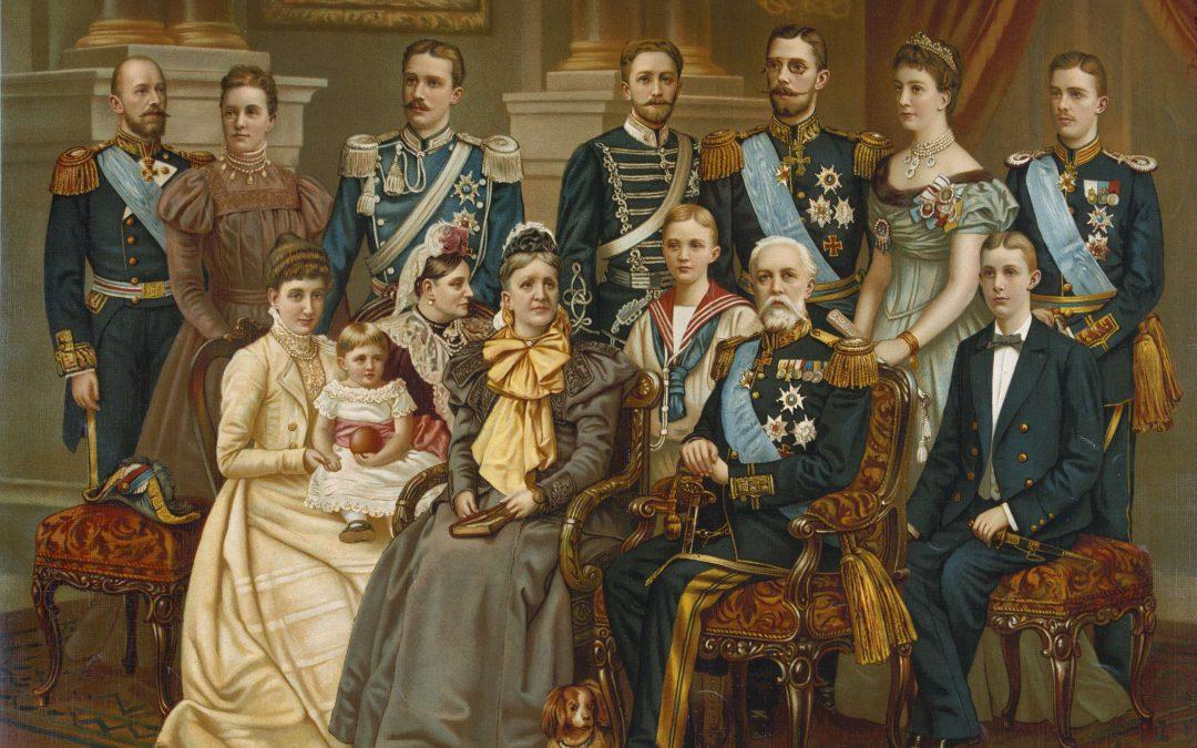 Oscar II och hans familj, cirka 1900.