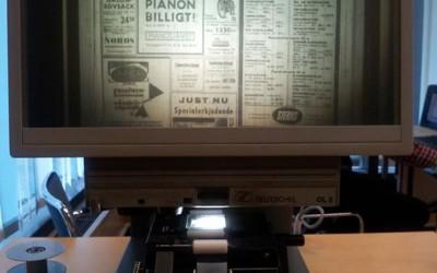 Tidningar på mikrofilm