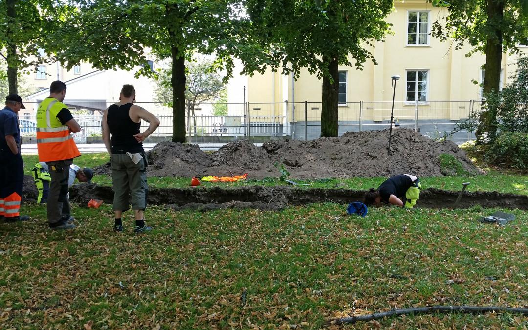 Utgrävning vid Södra kajen och Kalvhagen