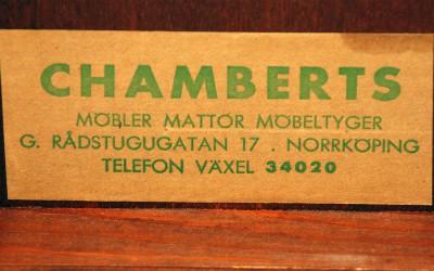 Stort intresse för Chamberts möbler
