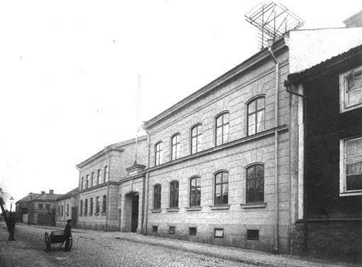 Norrköpings brandstation på Trädgårdsgatan 1897.