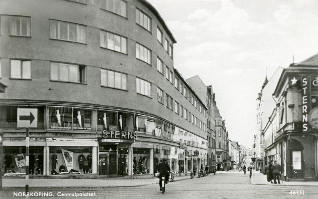 Centralpalatset i korsningen Sankt Persgatan - Drottninggatan i kvarteret Diket 1941.