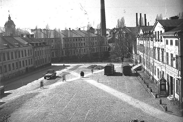 Gamla torget. Foto: Carl Werngren. Ur Norrköpings stadsmuseums samlingar