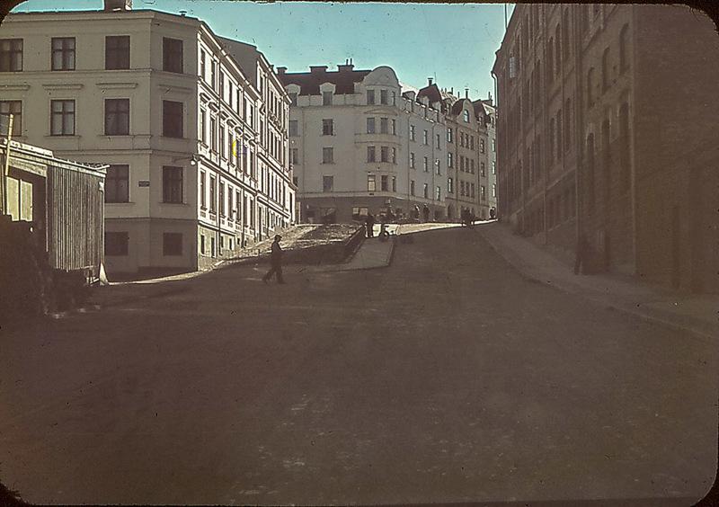 Korsgatan. Foto: Gustaf Östman. Ur Norrköpings stadsarkivs samlingar