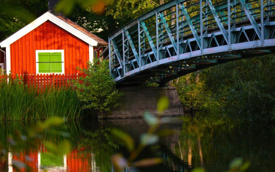 Femöresbron och brostugan. Foto: Norrköpings kommun