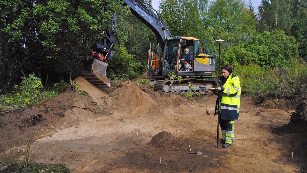 Utgrävning i Pryssgården. Foto: Arkeologerna