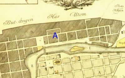 Rester av stor handelsgård från 1600-talet på Saltängen