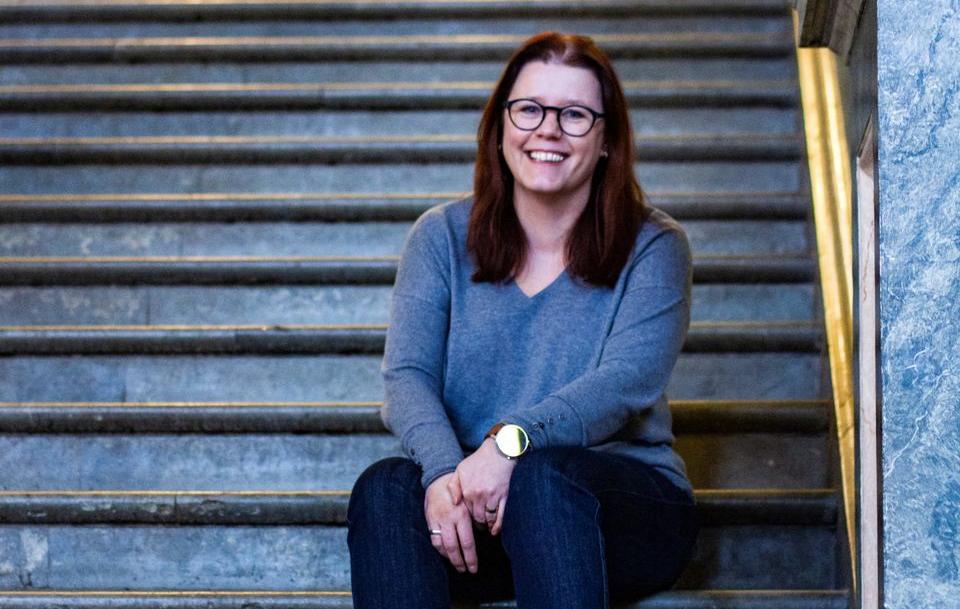 Eva Lindahl, historie- och samhällskunskapslärare på De Gerrgymnasiet. Foto: Norrköpings kommun