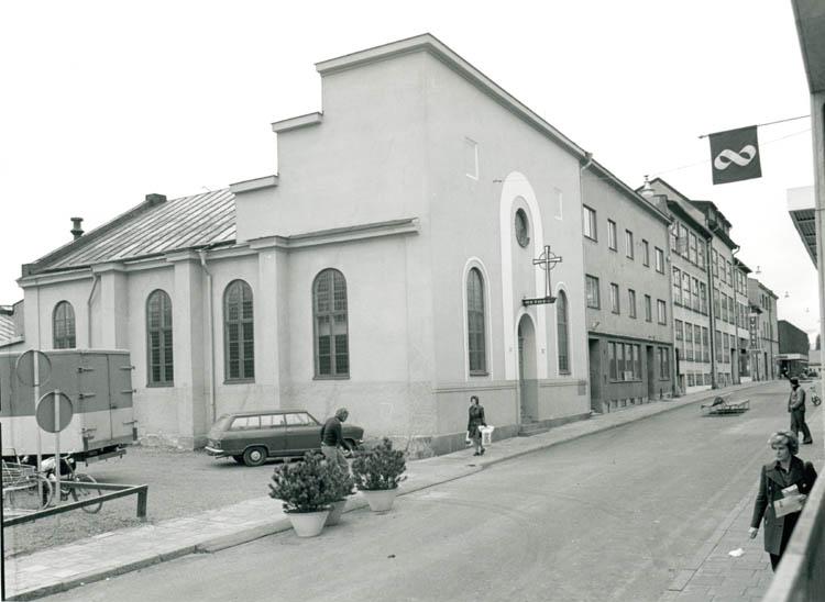 Bethelkyrkan vid Prästgatan i kvarteret Linden. Okänt år. Ur Norrköpings stadsarkivs samlingar