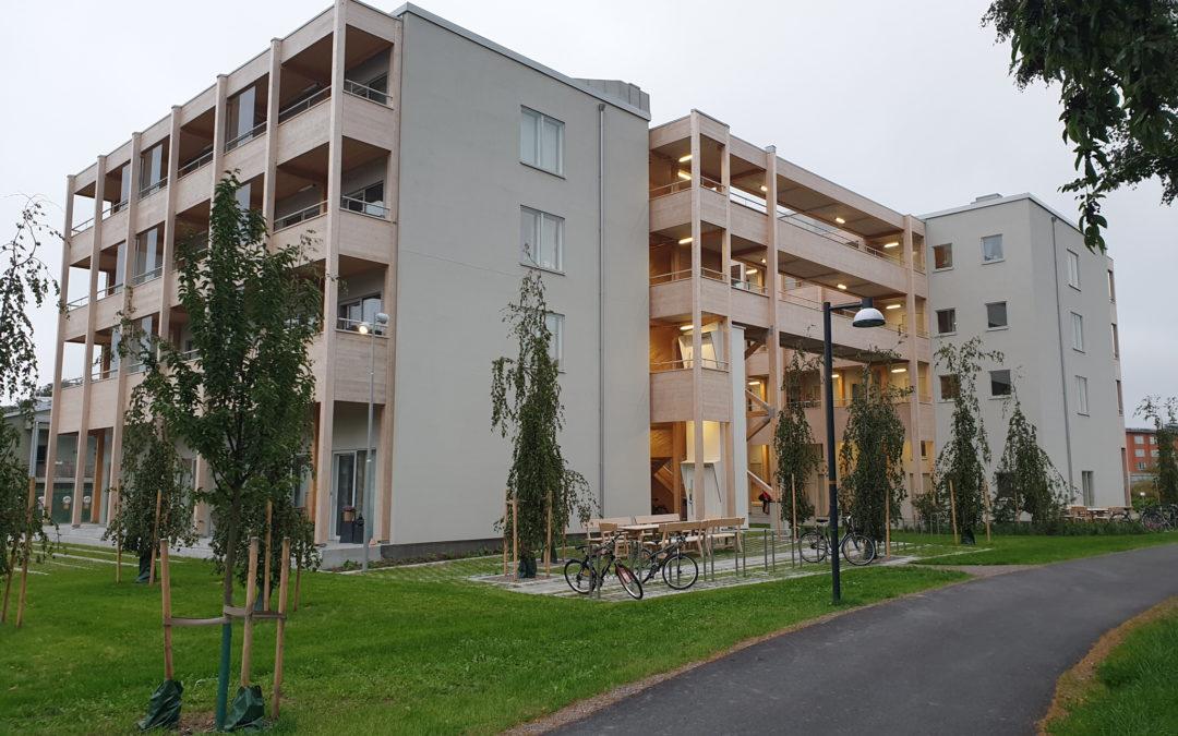 Bostadshus i kvarteret Svavelstickan år 2019. Foto: Peter Kristensson/Klingsbergs Förlag