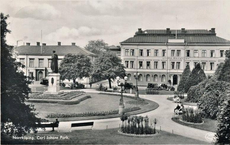 Carl Johans park. Vykort, okänt år
