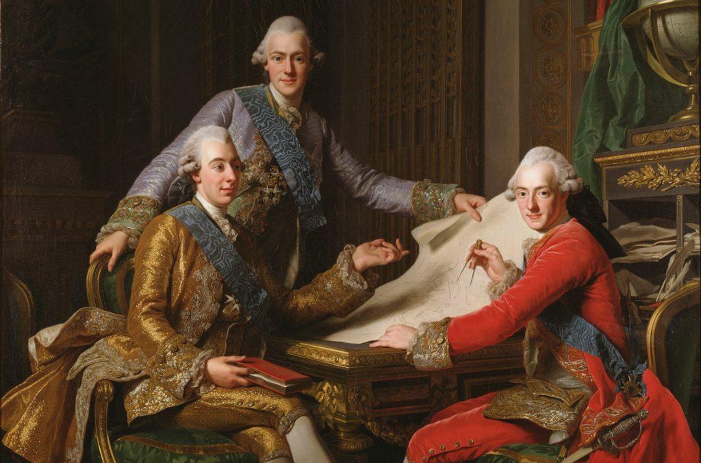 """Alexander Roslin: """"Gustav III och hans bröder"""" (1771), Nationalmuseum."""