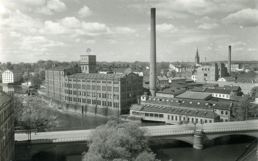 Textilfabriken YFA i kvarteret Kåkenhus. Ur Norrköpings stadsarkivs samlingar