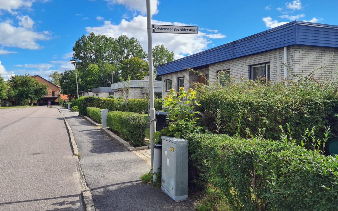 Gröndalsgatan vid kvarteret Skidvallan år 2020. Foto: Peter Kristensson/Klingsbergs Förlag