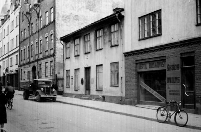 Kvarteret Djupet vid S:t Persgatan. Okänd fotograf. Ut Norrköpings stadsarkivs samlingar