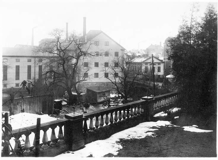 KraftstationenBergsbron-Havet i kvarteret Gamlabron 1918. Foto: Gustaf Lidberg. Ur Norrköpings stadsarkivs samlingar