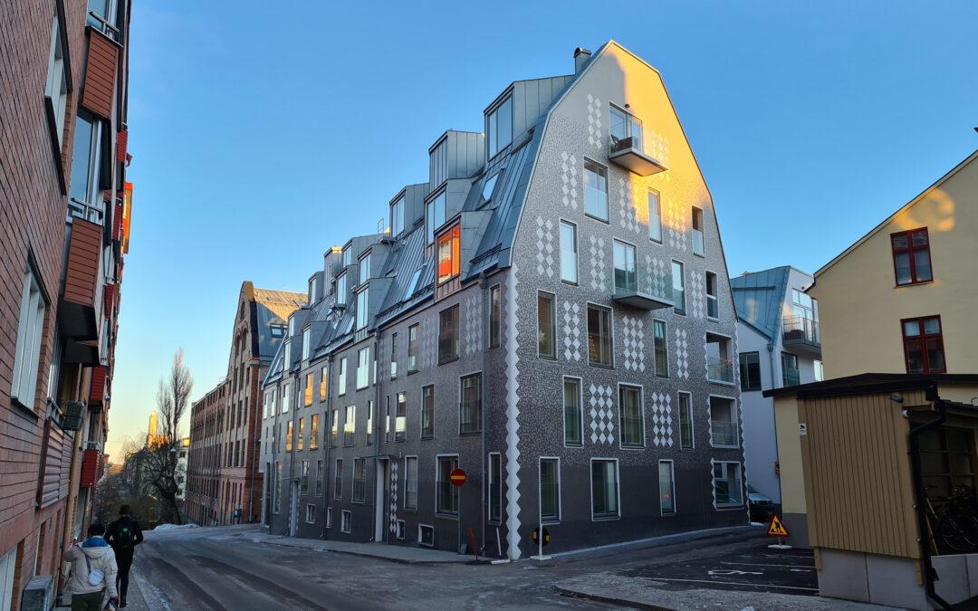 Bostadsfastighet i kvarteret Garvaren år 2021. Foto: Peter Kristensson/Klingsbergs Förlag