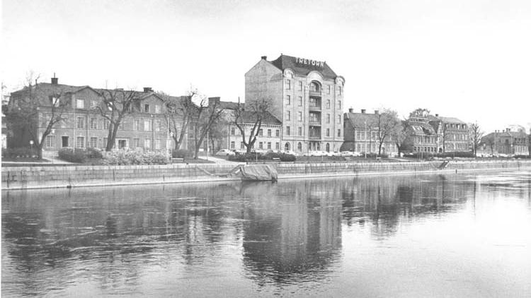 Kvarteret Gubben vid Saltängsgatan 1971. Foto: Gustaf Larsson. Ur Norrköpings stadsarkivs samlingar