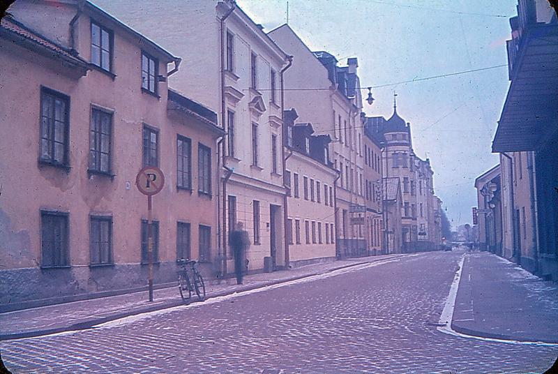 Kvarteret Lyckan utmed Hantverkaregatan 1945. Foto: Gustaf Östman. Ur Drätselkammarens arkiv, Norrköpings stadsarkiv