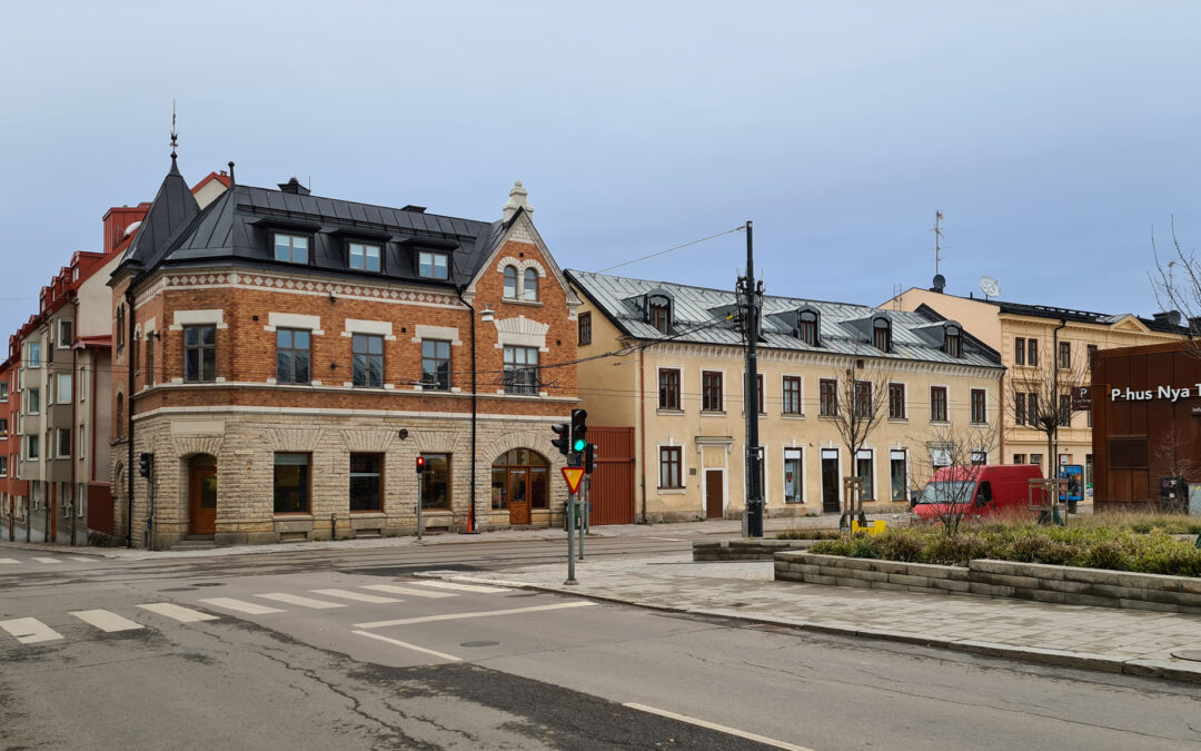 Kvarteret Vattnet vid Nya torget år 2020. Foto: Peter Kristensson/Klingsbergs Förlag