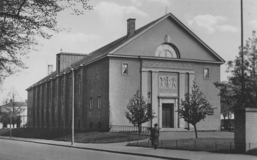 Linghallen vid Södra Promenaden i kvarteret Getängen. Okänd fotograf. Ur Norrköpings stadsarkivs samlingar.