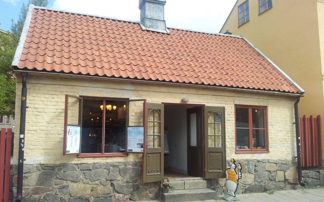 """Huset """"Sista supen"""" i kvarteret med samma namn. Foto: Peter Kristensson/Klingsbergs Förlag"""