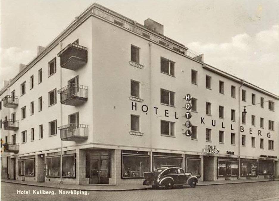Hotell Kullberg på Slottsgatan 119 i kvarteret Björken. Vykort