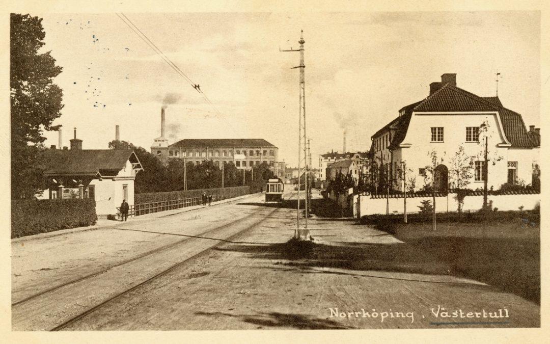 Västertull. Vykort. Ur Östergötlands museums samlingar
