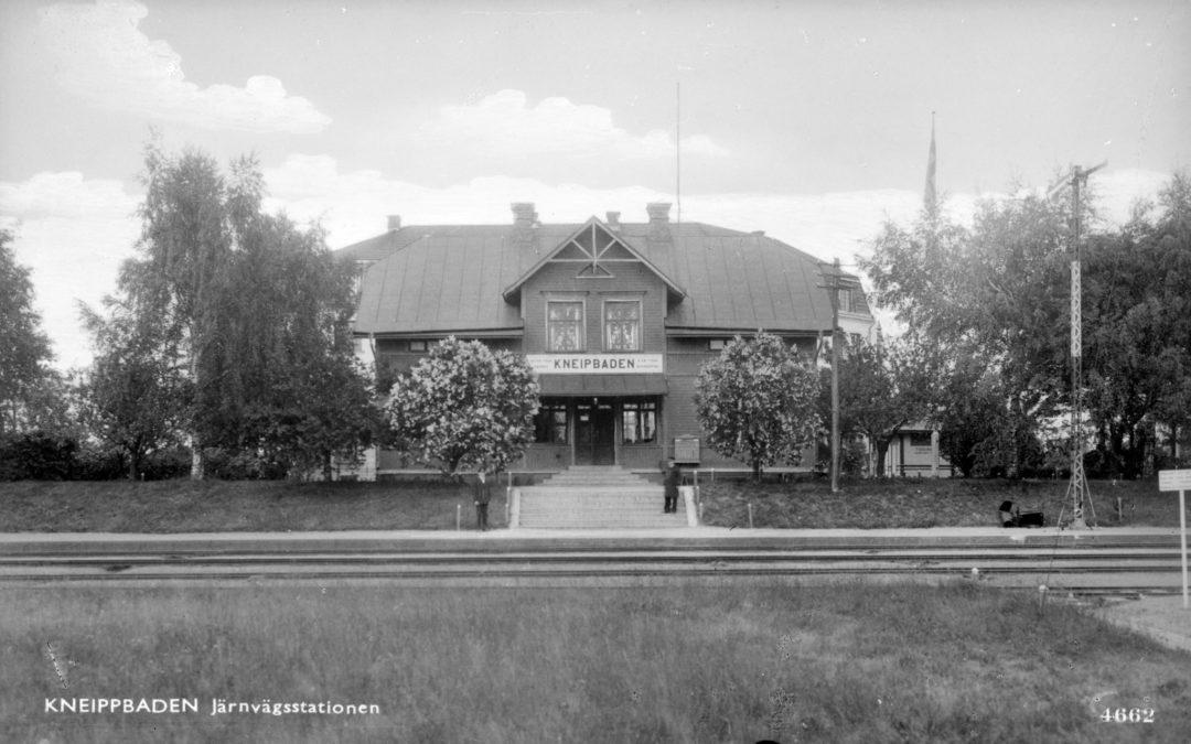 Västra station. Vykort från ca 1940