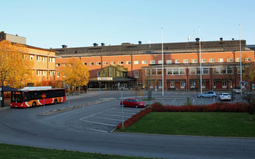 Vrinnevisjukhuset i kvarteret Diademet 2018. Foto: Peter Kristensson/Klingsbergs Förlag