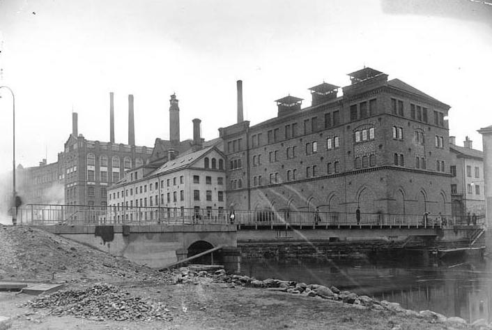 Kvarteret Busken 1926. Foto: Gustaf Lidberg. Ur Norrköpings stadsarkivs samlingar