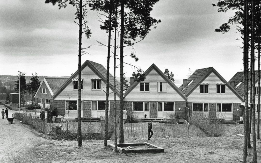 Villaområdet i Jursla. Foto: Gustaf Larsson. Ur Norrköpings stadsarkivs samlingar