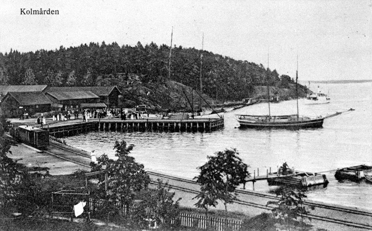 Sandvikens brygga 1910. Ur Norrköpings stadsmuseums samlingar