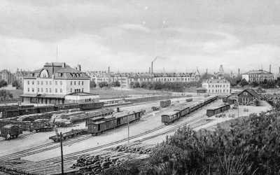 Så var Norrköping som järnvägsknut