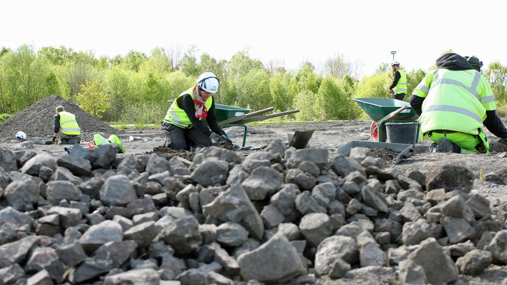 Utgrävningen i Ströja. Foto: Arkeologikonsult
