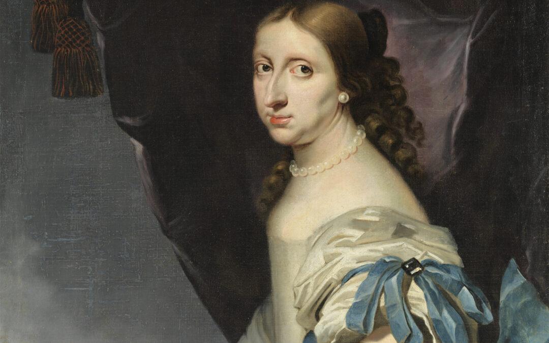 Abraham Wuchters porträtt av drottning Kristina, målat i Norrköping år 1661. Foto: Skoklosters slott